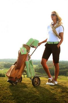 yeah i never look like this when i have just finished golfing, but it's still pretty cute