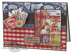 Authentique Paper - Great ideas for scrapping some of those old farmer pictures Christmas Cards, Card Making, Baseball Cards, Projects, Crafts, Pocket Scrapbooking, Paper Design, Farmer, Farmhouse