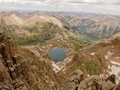 Lake 12545 from Windom Peak #Colorado #Mountains #Canseeformiles #Lake #Hiking #Greatoutdoors