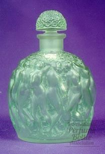 Rene Lalique was a jewelry designer to begin with and his bottles are exquisite. The company still exists today, and their perfumes (with gorgeous bottles) are very expensive.