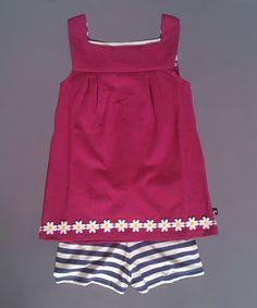 Another great find on #zulily! Magenta Stripe Ibiza Top & Shorts - Toddler & Girls #zulilyfinds