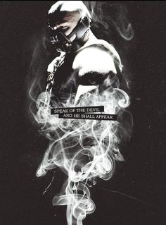 """Bane, The Dark Knight Rises . """"Speak of the devil and he shall appear. Dark Knight Rises Quotes, Bane Dark Knight, The Dark Knight Trilogy, The Dark Knight Rises, Bane Batman Quotes, Bane Quotes, Joker Quotes, Movie Quotes, Tom Hardy Tattoos"""