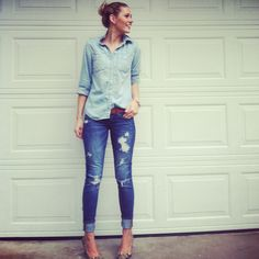 the best way to wear denim...is with more denim.