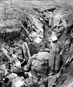 WWI, 1916; View of the trenches in Verdun. -Bridgeman