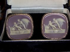 Cameo Cufflinks Incolay Lovers Apollo and Daphne  Dante Museum Masterpiece