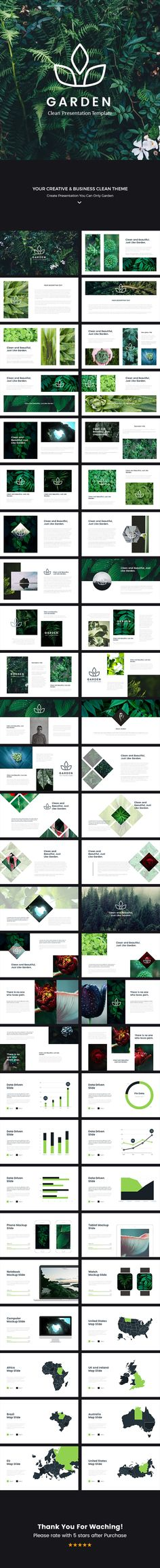 Garden Clean Keynote Template — Keynote KEY #sales • Download ➝ https://graphicriver.net/item/garden-clean-keynote-template/18819849?ref=pxcr