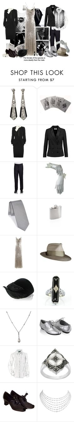 """Hardboiled!AU Belle."" by steampoweredgoth ❤ liked on Polyvore featuring Altuzarra, Sandro, Calvin Klein, The Tie Bar, Gelert, Jenny Packham, Switchblade Stiletto, Vintage, Masquerade and Forever 21"