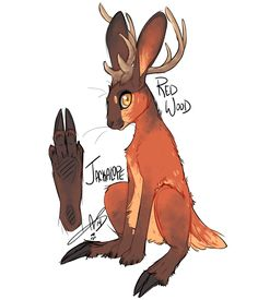 Jackalope: Red Wood by CloverCoin on DeviantArt