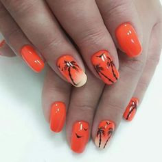 20 Fall Nail Art Ideas You'll Love - Fashionre Cute Nails For Fall, Manicure And Pedicure, Pedicures, Beauty Zone, Seasonal Nails, Fall Nail Art Designs, Fall Patterns, Leaf Coloring, Fabulous Nails