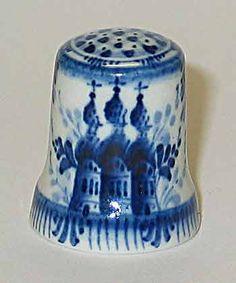 Porcelain thimbles of artist Svetlana Zubova