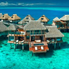 An over-water bungalow is my all-time dream vacation. Fiji, I think.