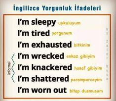 Pinterest: @çikolatadenizi Instagram: @ingilizce.og English Phrases, English Words, English Lessons, English Grammar, English Language, English Tips, Learn Turkish Language, Learn A New Language, Good Vocabulary Words