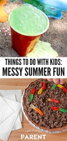 Summer Activities for Kids that make a mess are the most fun! Check out these simple ideas for indoor and outdoor that work well for toddlers, children, and even teenagers! Make memories at home this summer with some DIY fun! #ad #PutASquareThere #kidsactivities #forkids #kidscrafts