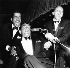 Sammy Davis Jr, Dean Martin and Frank Sinatra
