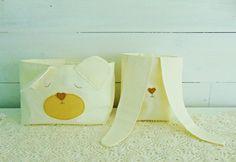 pojemnik kosz organizer na pieluszki zabawki w reczykling na DaWanda.com