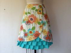 Poppy ruffle front skirt Sz 6