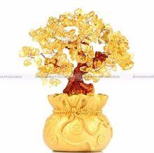 Citrine Bonito Jóia de Cristal Amarelo Árvore sorte Árvore Riqueza Golden SMB 40316921(China (Mainland))