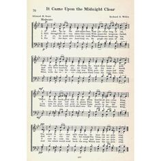 It came upon the Midnight Clear Willis & Sears NoÔø?ls A Collection of Christmas Carols 1932 Canvas Art - (24 x 36)
