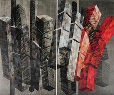 """A Galeria Candido Mendes recebe de 20 de agosto a 18 de setembro uma exposição individual de Dolly Michaeilovska, """"Arquitetura Aérea"""", que tem entrada franca."""