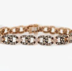 "LeVian 14k Rose Gold 5 24ct Chocolate Diamond Bracelet 7 75"" with Papers | eBay"