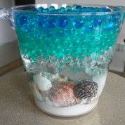 How to Make a Beach Centerpiece using Water Beads... this is EXACTLY what I want...