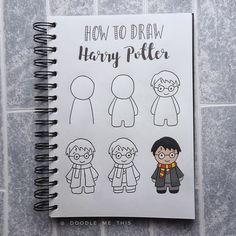 Hobby Ideas For Guys - Hobby Room Ikea - Unique Hobby For Women - Hobby Horse Selber Machen - - Harry Potter Journal, Harry Potter Theme, Harry Potter Diy, Harry Potter Drawings Easy, Funny Easy Drawings, Bullet Journal Writing, Bullet Journal Ideas Pages, Bullet Journal Inspiration, Easy Doodle Art