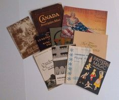 Lot of Antique & Vintage Paper Collectibles Booklets Menu Canada Atlas How To http://www.medusamaire.com/my-ebay-items/ to see all of my items for sale!