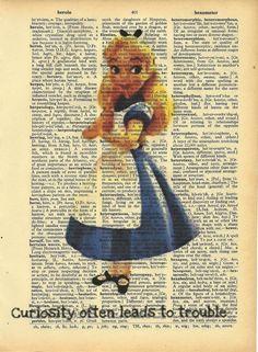 Alice in the wonderland Disney Girls, Disney Love, Disney Art, Alice In Wonderland 1951, Alice Book, Chesire Cat, Altered Book Art, Disney Crafts, Retro