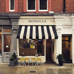 The small but perfectly formed Monocle Cafe in Marylebone. It's so close to many touristy places and yet still manages to feel intimate and local. They've been using @allpressuk since opening and are doing a pretty fine job of it. by caffeinemag