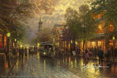 Thomas Kinkade - Evening on the Avenue  2007