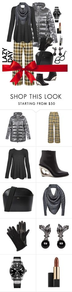 """LAZY DAY ONE"" by grettelcabrera on Polyvore featuring moda, Amina Rubinacci, Sea, New York, Kinross, Alexander McQueen, A.P.C., Louis Vuitton, Lanvin, Ulysse Nardin y Estée Lauder"