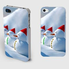 Laughing Snowman Iphone4/4S Christmas Case