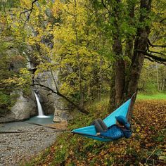 Hammocking seems like more of a competitive sport these days than a way to relax or sleep on the trail. I've always favored the latter and thought of it as a way to slow down & enjoy the Simple moments like this.  Fall colors at Trümmelbach. by chrisburkard