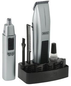 Wahl Mustache Beard Trimmer Kit 12 Pcs w/ Nose Ear Trimmer Razor Sharp Cordless…
