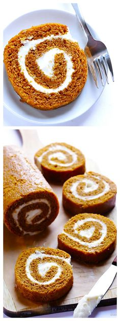 Pumpkin Roll -- recipe and instructions for how to make a classic pumpkin roll! | gimmesomeoven.com #thanksgiving