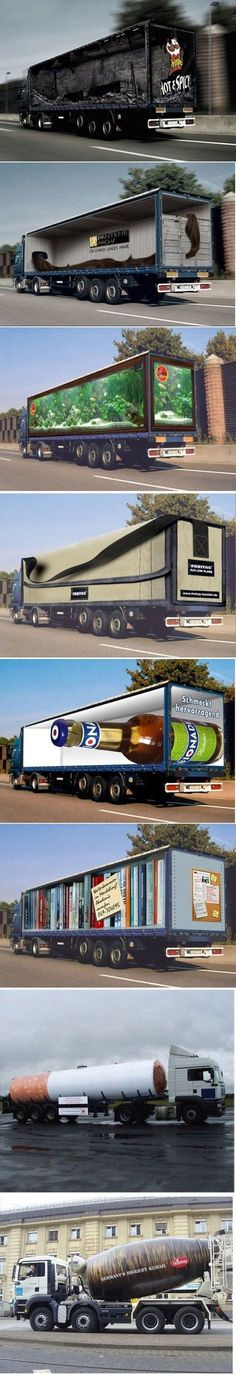 advertisement, cool, cool ad, creative, funny photo, funny pictures, 15 Awesome Truck Advertisements