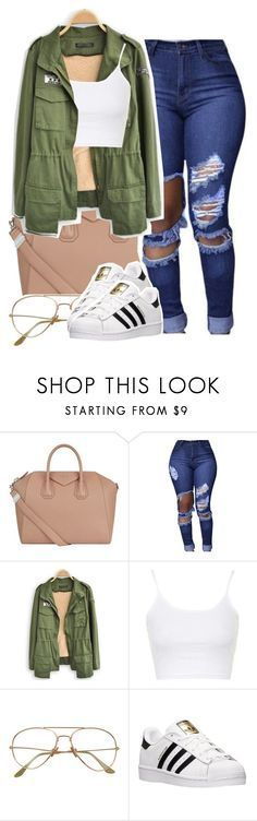 Untitled #1373 by queen-tiller on Polyvore featuring Topshop, adidas and Givenchy #schooloutfits