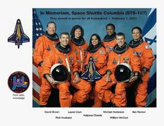 14 years ago today; we remember the Crew of the Space Shuttle Columbia which exploded killing all. Never Forget and explore the heavens with our Lord. RIP