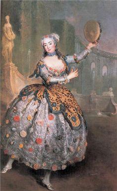 Portrait of the dancer Barbara Campanini aka La Barbarina   Artist: Antoine Pesne   Completion Date: c.1745