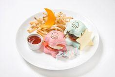 【2015.11.21-12.28】福岡パルコにキキ&ララカフェが期間限定オープン ★ Kiki & Lala Cafe @ THE GUEST cafe&diner (福岡パルコ 本館5F) ★ リトルツインスターズハンバーガープレート  ¥1,350 ★  #KikiLalaCafe #LittleTwinStars