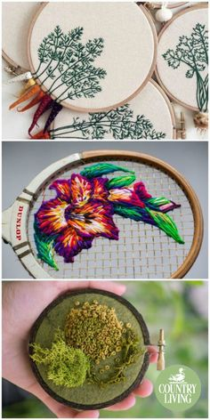 Using a variety of canvases, patterns, and materials, these needlework embroidery ideas are striking, fun, and truly one-of-a-kind. Better head to the craft shop for more embroidery hoops and colourful thread to get started with these patterns.