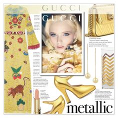 """""""METALLIC//MINIBAG//ORANGECRUSH"""" by shoaleh-nia ❤ liked on Polyvore featuring Gucci and C. Wonder"""