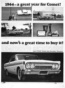 1964 Mercury Comet Coupe Classic Vintage Print Ad