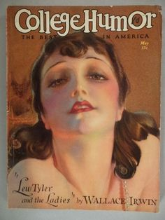 College Humor - May, 1928 ~~ Rolf Armstrong cover art