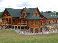 log homes Luxury Log Home Prices for our handcrafted Log Homes Log Cabin House Plans, Log Cabin Living, Free House Plans, Log Home Plans, Log Cabin Homes, Luxury Log Cabins, Log Home Prices, Future House, Log Homes Exterior