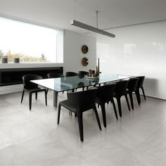 Tile Showroom NJ by Metropolitan Tile & Stone Modern Floor Tiles, Wall And Floor Tiles, Modern Wall, Grey Tiles, White Tiles, Tile Showroom, Granite Tile, Kitchen Tiles, Kitchen Living