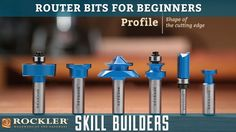 Wood Profits Quality Router Bits For All Your Woodworking Needs. Find a Large Selection of Edge Forming, Flush Trim, Molding Bits, Beading Bits and More at Rockler. Woodworking Cnc Machine, Woodworking Router Bits, Diy Router, Woodworking Tools For Beginners, Woodworking Courses, Essential Woodworking Tools, Antique Woodworking Tools, Woodworking Shows, Wood Working For Beginners
