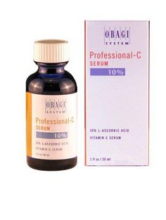 Obagi Professional-C Serum 10% L-Ascorbic Acid Vitamin C Serum Facial Treatment Products***Size: 1 oz.Designed to stimulate collage to firm and support skin,Superior delivery system, resulting in greater penetration to all layers of the skin,Lighten skin discolorations, moisturize and hydrate skin to improve both texture and tone,Suitable for dry, sensitive or reactive skin types,Made in USA,.
