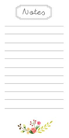 Free printable notepad sheets from A Joyful Riot. Perfect for a to-do list!