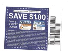 10 Coupons Save $1.00 on any (1) Sucrets Products 05/31/2014